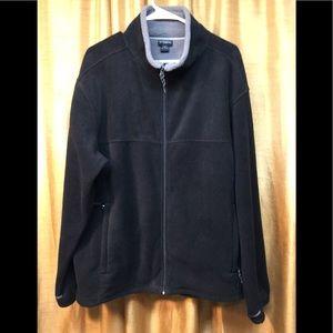 Mens White Sierra Fleece Zip Down Jacket